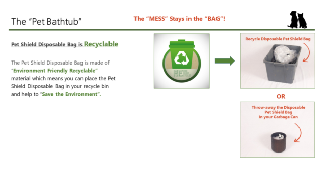 Pet Shield Disposable Bag is Recyclable